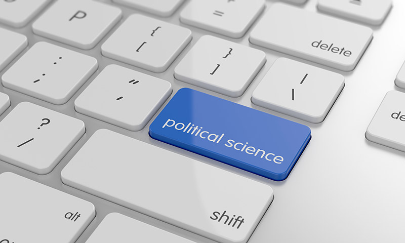 "A computer keyboard that has a ""Political Science"" key"